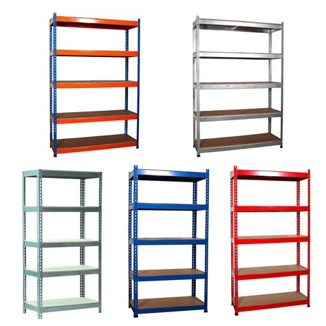 garage shelving units workshop garage warehouse shed storage shelf racking unit plastic metal 4 5 tier ebay