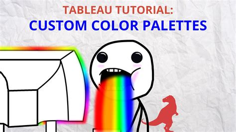 tableau public tutorial youtube how to make custom color palettes in tableau datasaurus rex