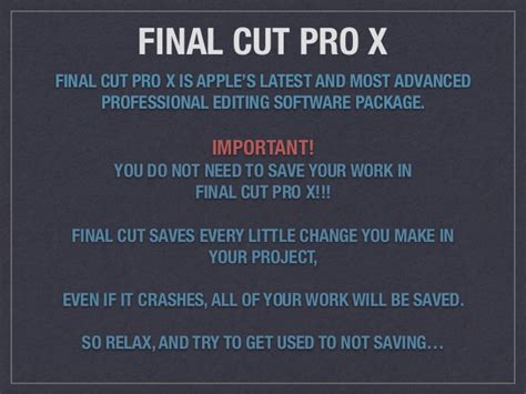 Final Cut Pro Editing Tips | introduction to final cut pro x editing tips and techniques