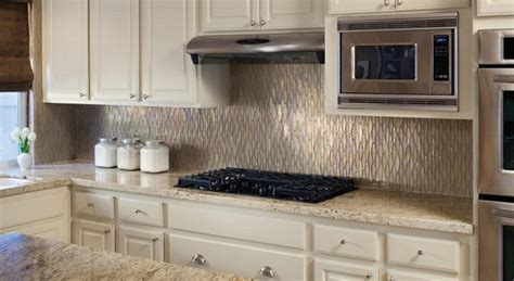 glass tile for backsplash in white kitchen home interiors