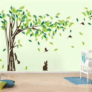 Wall Stickers Home Decor by Large Wall Decal Tree Removable Green Wall Decor Living