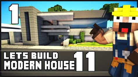 how to build on to your house minecraft lets build modern house 11 part 1 youtube