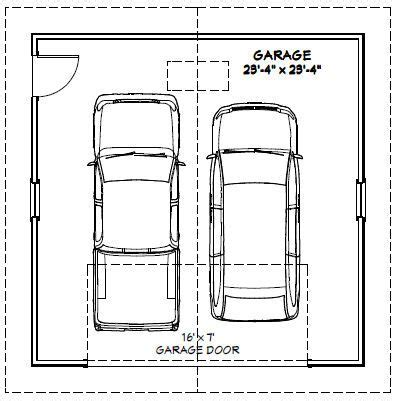 dimensions of a 2 car garage 24x24 2 car garage 24x24g1e 576 sq ft excellent