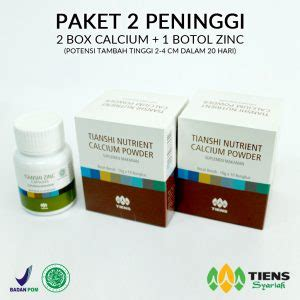 Promo Paket Peninggi Badan Tiens 1 Box Calcium Nhcp 1 Botol Zinc Pal distributor resmi agen tiens indonesia peninggi badan agentiens