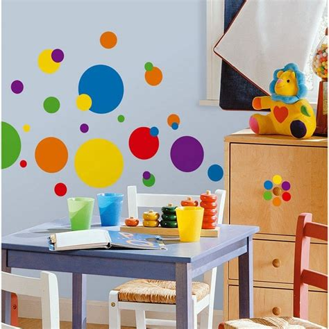 kids bedroom wall decals 15 polka dot interior wall designs decor ideas design