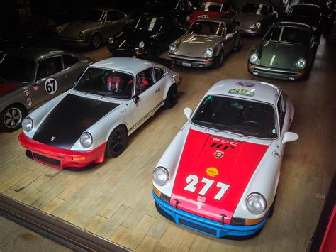 magnus walker garage flat out magazine secondhand e types and california s