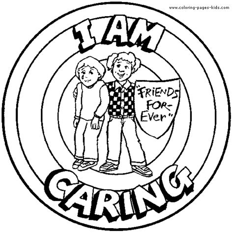I Am Caring Coloring Page Coloring Pages Pinterest Caring Coloring Pages