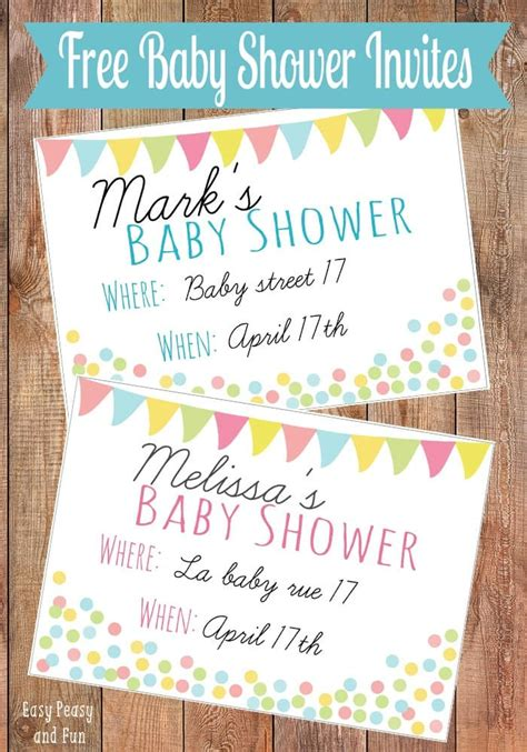Free Downloadable Baby Shower Invitations by Free Printable Baby Shower Invitation Easy Peasy And