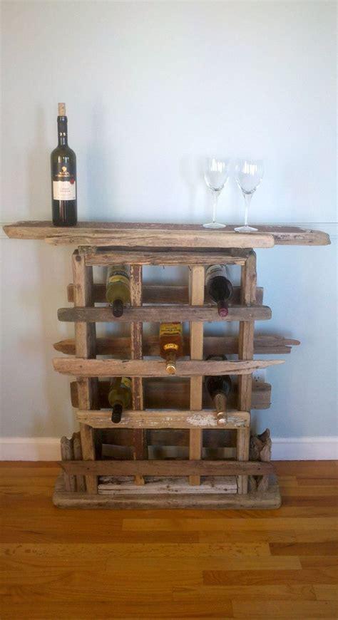 rustic driftwood wine rack   etsy jcdd