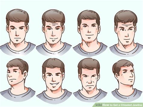jaw line types 4 ways to get a chiseled jawline wikihow