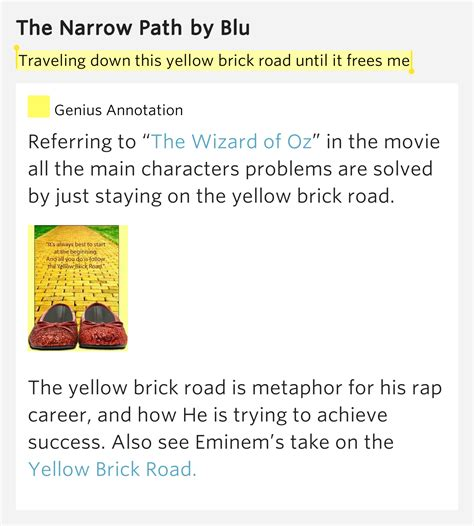 eminem yellow brick road traveling down this yellow brick road until it the