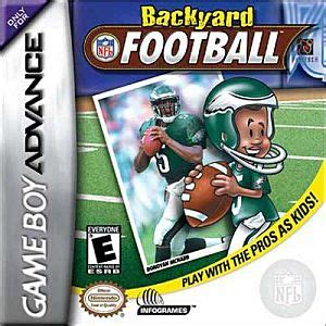 Backyard Baseball Ds Rom Backyard Football Nintendo Boy Advance Gba
