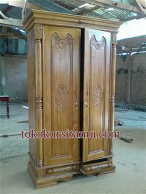 Almari Lemari Pakaian Laci Pintu 2 Minimalis Teak Furniture jati furniture minimalis almari pakaian 2 pintu almari