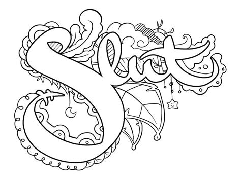 artsy pages coloring pages