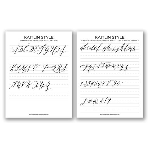 lettering workbook a premium beginnerã s practice lettering book introduction to lettering modern calligraphy books free basic calligraphy worksheet kaitlin style the