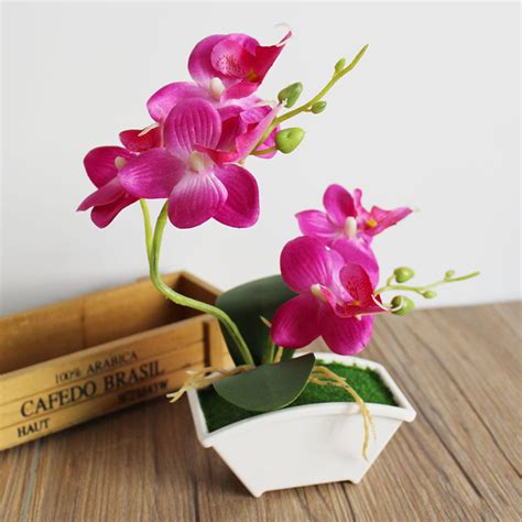 Flower Overall Inner One Set 1 set artificial flower vase artificial butterfly orchid simulation flower artificial