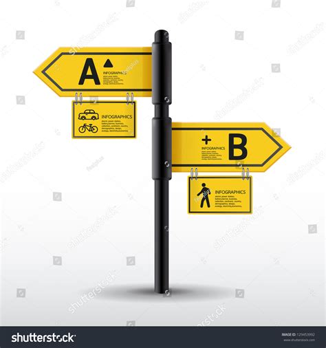 modern road sign design template can stock vector