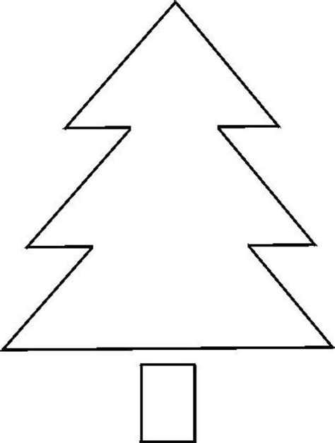 printable christmas tree stencil christmas tree printable template outline pattern