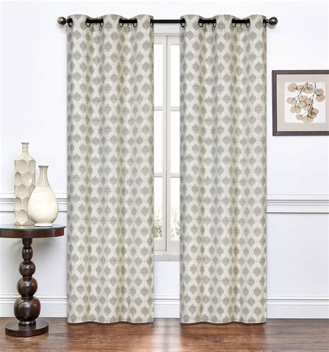 taupe curtain panels pair of paulette taupe window curtain panels w grommets