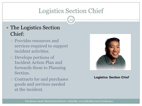 ics logistics section chief nims ics bcp omg
