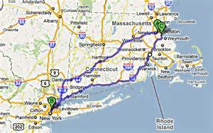 Map From New York To Boston by The Great Race Begins 171 Parterre Box