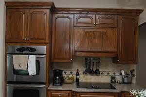 Walnut Stained Kitchen Cabinets Walnut Stained Cabinets Traditional Kitchen Kansas City By Creations