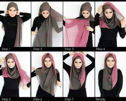 tutorial hijab simple untuk wajah kotak cara memakai hijab modern untuk remaja