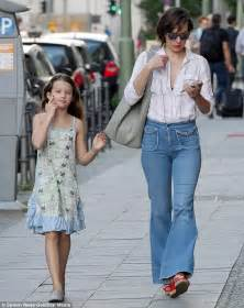 milla jovovich daughter milla jovovich shows off her 1970s style in bell bottoms