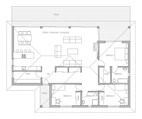 small modern house plans one floor small house plan in modern architecture open planning