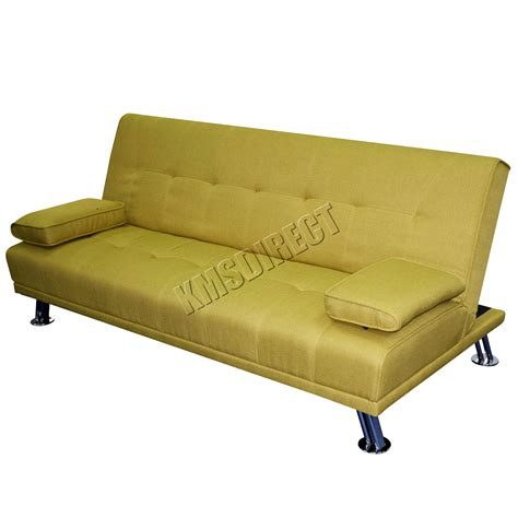 green sofa bed foxhunter fabric chunky sofa bed recliner 3 seater modern luxury design green