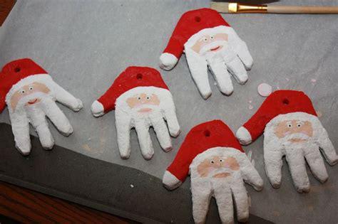 ideas  santa hand ornament  pinterest