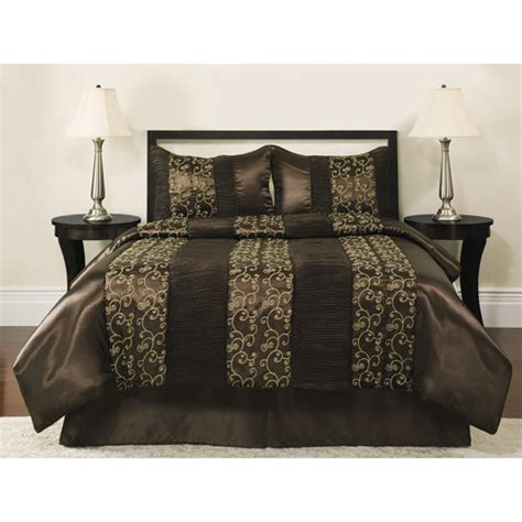 better homes and gardens comforter set collection brown