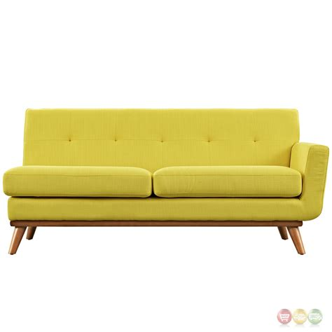 button tufted loveseat engage modern button tufted upholstered right arm loveseat
