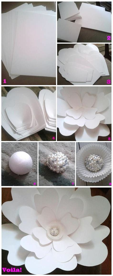 How To Make Large Paper Flowers For Wedding - diy wedding ideas 10 ways to use paper for weddings