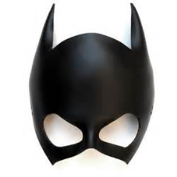 leather mask batgirl batwoman catwoman black super by