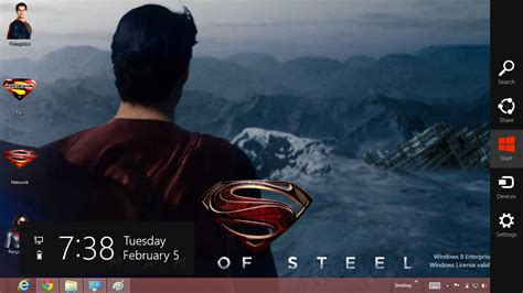 superman themes for windows 10 download gratis tema windows 7 superman man of steel 2013