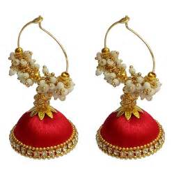 Gold And Red Bedroom - buy custom hand crafted red color original silk thread earrings made to order from love bright
