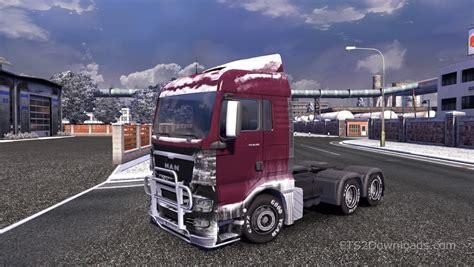 euro truck simulator 2 snow mods simulation game modes dirt snow skin for man tgx euro truck simulator 2 mods