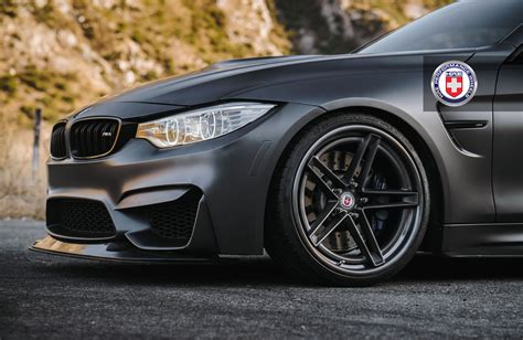 matte black bmw hellish looking matte black bmw m4 with hre performance wheels