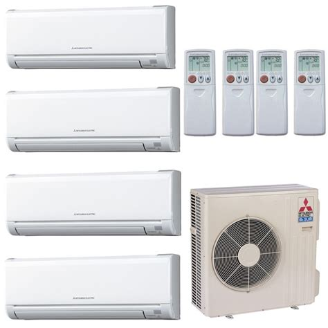 mitsubishi mini split mitsubishi 36 000 btu 19 seer ductless zone heat