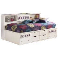 Double Bed With Bookcase Headboard Zayley Twin Bed W Bookcase Headboard Amp Storage