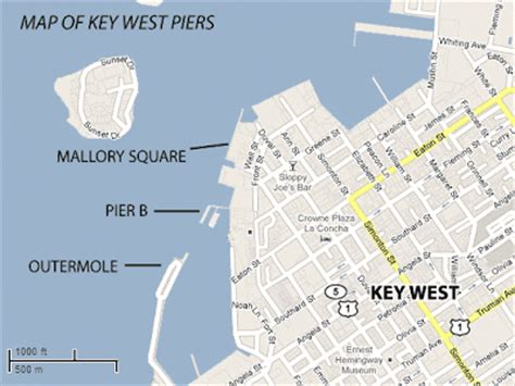 pier b key west is pier b the same as mallory square pier cruise critic