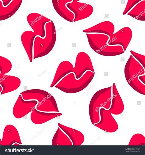 pink lips pattern pink lips seamless pattern on a background illustration