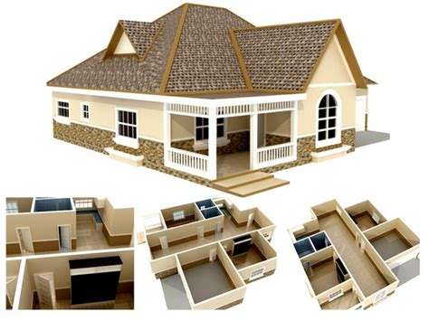 house plans 3d models 3d plan models max 3ds obj fbx ma