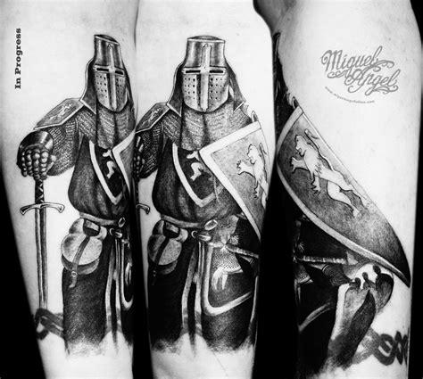 custom knight templar tattoo miguel angel custom tattoo