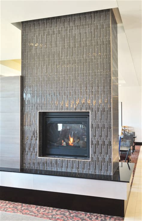 Indoor Glass Fireplace by Akdo Chocolate Stagger Glass Fireplace