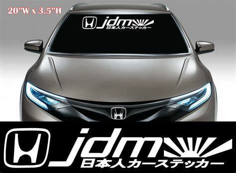 jdm car stickers 1x jdm kanji racing decal sticker mugen windshield decal