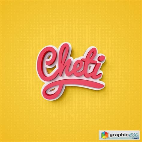 cheti psd text effect   vector stock image photoshop icon