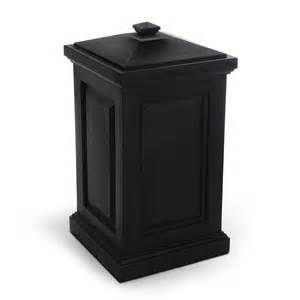 Patio Trash Cans Outdoor by Shop Mayne 45 Gallon Black Outdoor Garbage Can At Lowes Com