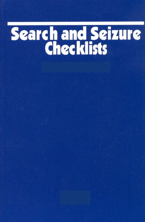 Search Seizure Search Seizure Checklists Starlite Inc